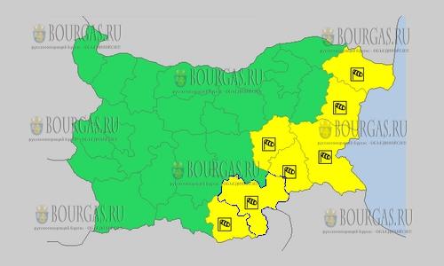 26 сентября 2018 года, погода в Болгарии ветреный Желтый код опасности