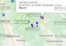 31 августа 2018 года, землетрясение в Болгарии