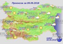 9 сентября 2018 года, погода в Болгарии