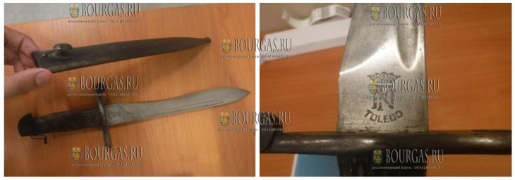 Гражданин РФ по возвращению домой из Бургаса прихватил с собой холодное оружие