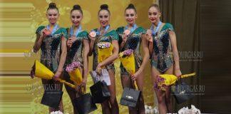 На 36-м Чемпионате Мира по художественной гимнастике, который проходит в Софии, сборная Болгарии по художественной гимнастике дотянулась до бронзы в многоборье