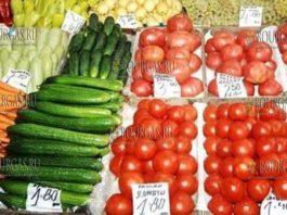 цены на овощи в Болгарии, цены на фрукты в Болгарии
