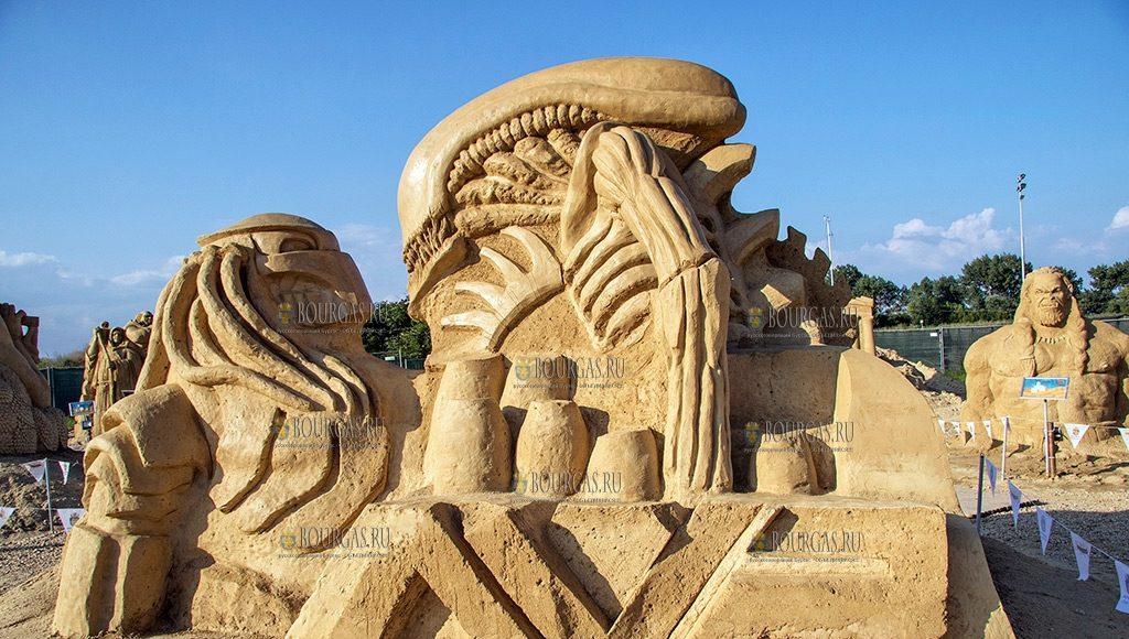 11 фестиваль песчаных скульптур в Бургасе