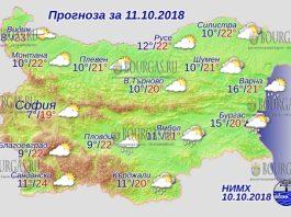11 октября 2018 года, погода в Болгарии