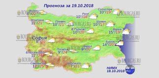 19 октября 2018 года, погода в Болгарии