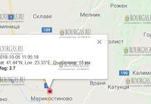 5 октября 2018 года землетрясение в Марикостиново в Болгарии