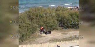 Цыгане разрушают дюны в районе болгарского курорта Поморие