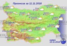 11 ноября 2018 года, погода в Болгарии