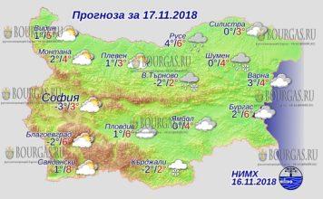 17 ноября 2018 года, погода в Болгарии