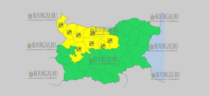 20 ноября в Болгарии скользкий Желтый код