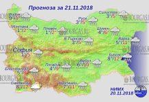 21 ноября 2018 года, погода в Болгарии