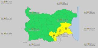 22 ноября в Болгарии дождевой Желтый код