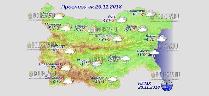 29 ноября 2018 года, погода в Болгарии
