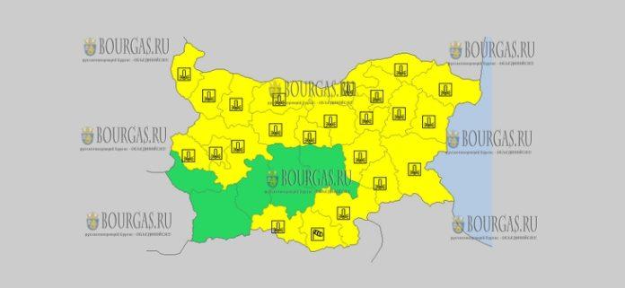 29 ноября в Болгарии морозный и ветреный Желтый код