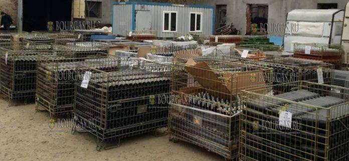 Сотрудники таможни в Бургасе, на территории муниципалитета Ямбол, обнаружили 27 200 литров вина неизвестного происхождения