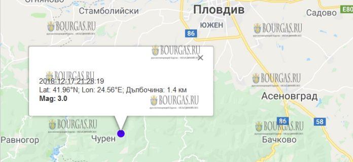 18 декабря 2018 года, землетрясение в Болгарии