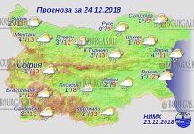 24 декабря 2018 года, погода в Болгарии