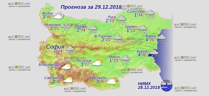 29 декабря 2018 года, погода в Болгарии