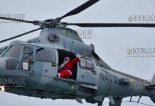 Дед Мороз прибыл в Варну на вертолете