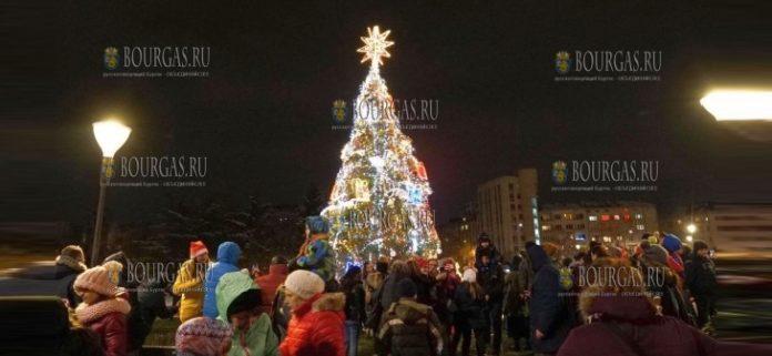 Рождественская елка в Софии ноябрь 2018