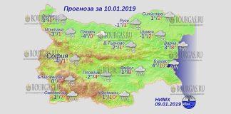 10 января 2019 года, погода в Болгарии