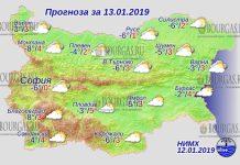 13 января 2019 года, погода в Болгарии