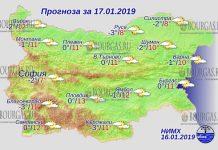 17 января 2019 года, погода в Болгарии