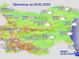 20 января 2019 года, погода в Болгарии
