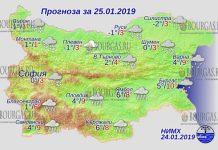 25 января 2019 года, погода в Болгарии