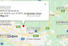 26 января 2019 года землетрясение в Болгарии