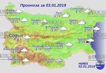 3 января 2019 года, погода в Болгарии