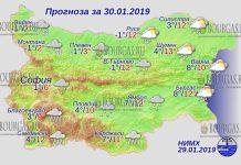 30 января 2019 года, погода в Болгарии