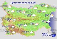 4 января 2019 года, погода в Болгарии