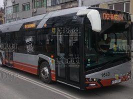 Гибридные автобусы Солярис курсируют по улицам Варны