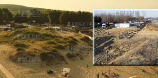 разрушение дюн у кемпинга Смокиня, как было и как стало