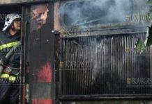 в Болгарии загорелся локомотив