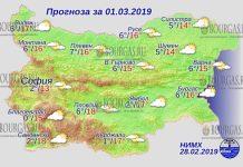 1 марта 2019 года, погода в Болгарии