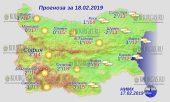 18 февраля 2019 года, погода в Болгарии