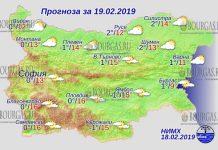 19 февраля 2019 года, погода в Болгарии