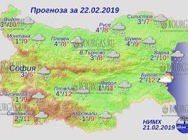 22 февраля 2019 года, погода в Болгарии