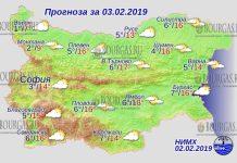3 февраля 2019 года, погода в Болгарии