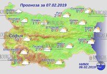 7 февраля 2019 года, погода в Болгарии
