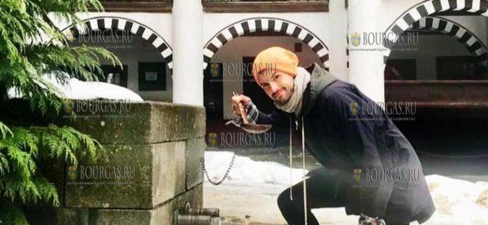 Григор Димитров в Рильском монастыре, февраль 2019 года