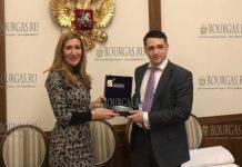 министр туризма Николина Ангелкова на встрече в Москве с заместителем министра экономического развития РФ Сергеем Галкиным