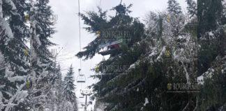 На подъемник на горнолыжном курорте Пампорово в Болгарии упало дерево