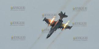 самоеты Су-25 ВВС Болгарии на ученмях Saber Guardian, полигон Ново село