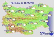 11 марта 2019 года, погода в Болгарии