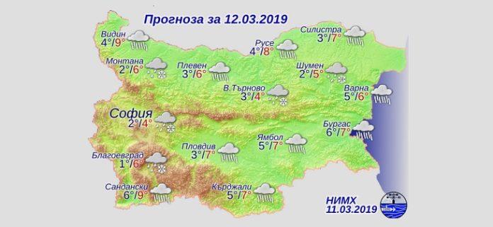 12 марта 2019 года, погода в Болгарии
