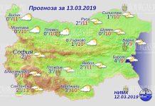 13 марта 2019 года, погода в Болгарии