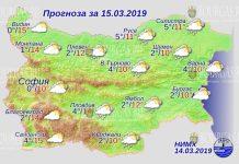 15 марта 2019 года, погода в Болгарии